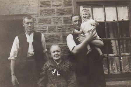 4 generations of Shepherd's, L to R George Shepherd,his mum Emma Jane Shepherd nee Paulucci, his