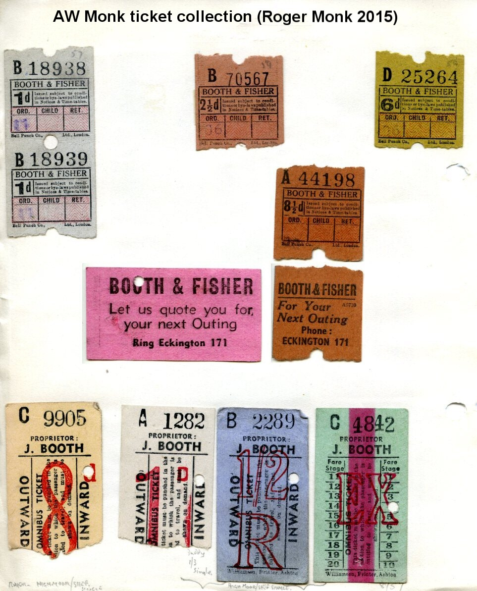 Booth and Fisher Bus tickets