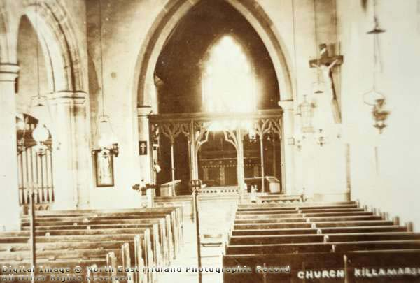 Interior of St Giles Church.