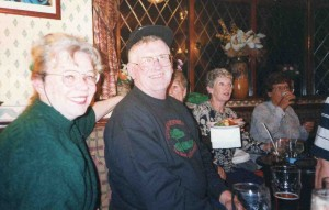 School Reunion 1999. Maureen Shaw, Frank Shaw, Unknown, Hilda Hancock, Unknown. Photo courtesy of Francis Shaw, New Jersey, USA.