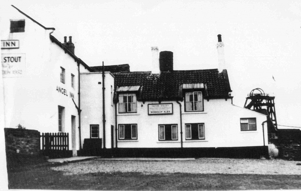 The Angel Inn with Norwood Colliery in background.  Photo courtesy of Mr V. Hopkinson.