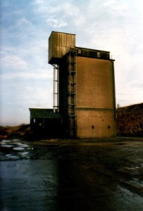 The Silo at Page Feeds in 1986.  Photo courtesy of David Page.