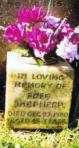 Great Uncle Fred's grave in St Giles Church Cemetery. It is next to the grave of his parents and 2 brothers.