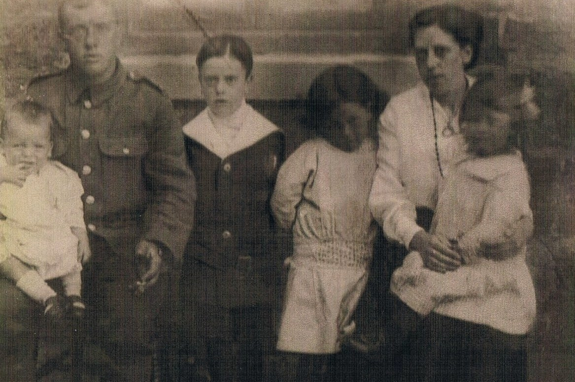 William Shepherd (1887 to 1917) with his family.
