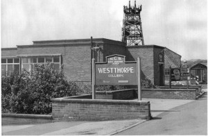 View of Westthorpe (with sign)