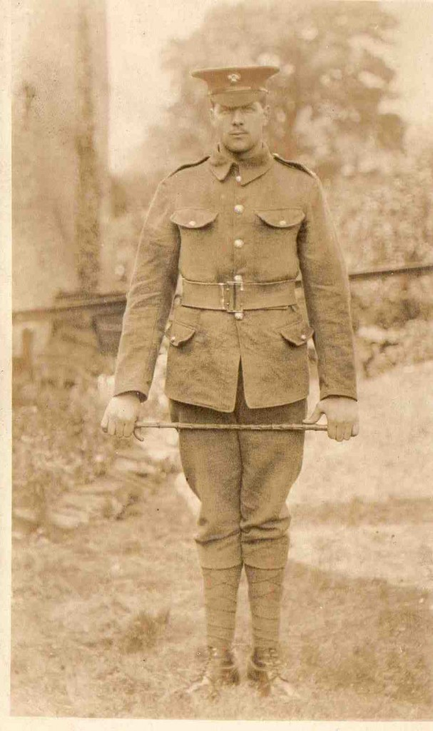 Private Bertram Hall 24935 4th Battalion Grenadier Guards. SEE NOTE BELOW. Photograph courtesy of Barbara Cawkwell.