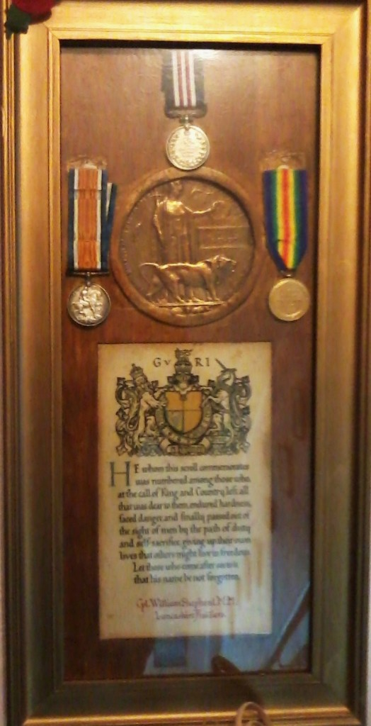 William Shepherd's W.W.1 medals
