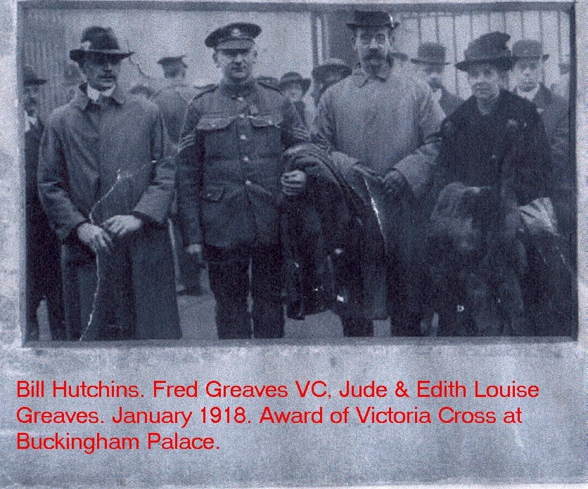 fred greaves vc jan 1918 buck house