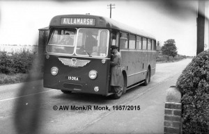 Booth and Fisher Bus in Killamarsh in 1957.  Photo courtesy of R. Monk.