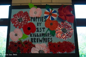 The KHS Poppy Exhibition to mark the Centenary of World War I- 4th August 2014.  See note below.