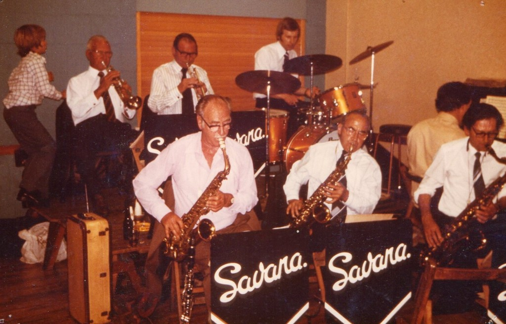 The Savanna Band. Eric Walker centre front row. Photo courtesy of Peter Lewis Walker.