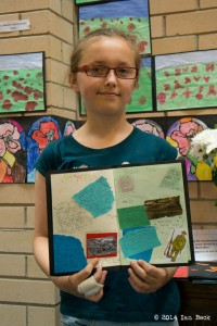 Megan Beck at the KHS Poppy Exhibition - July-August 2014.  See note below.
