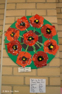 Poppy Exhibition - Poppies by Killamarsh Infants School