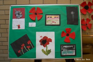 Poppy Exhibition - Poppy Competition winners from St Giles School