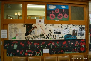 Poppy Exhibition - Work by Killamamrsh Cubs and St Giles School